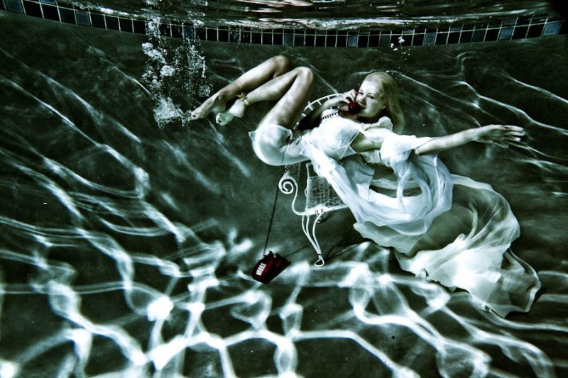 Lauren Bennett (of The Paradiso Girls). UNDERWATER Photography: James Hickey
