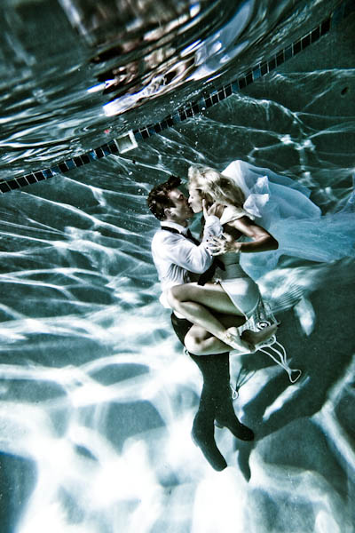 Dancer/Choreographer Kenny Wormald with his girlfriend Lauren Bennett of The Paradiso Girls Underwater Photos