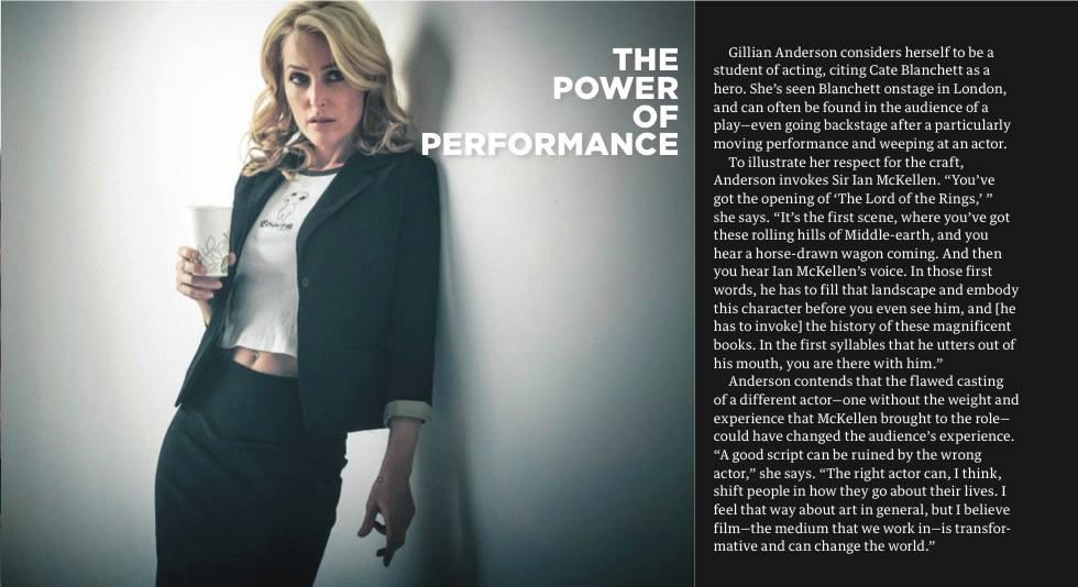 Gillian Anderson ,  James Hickey, backstage magazine