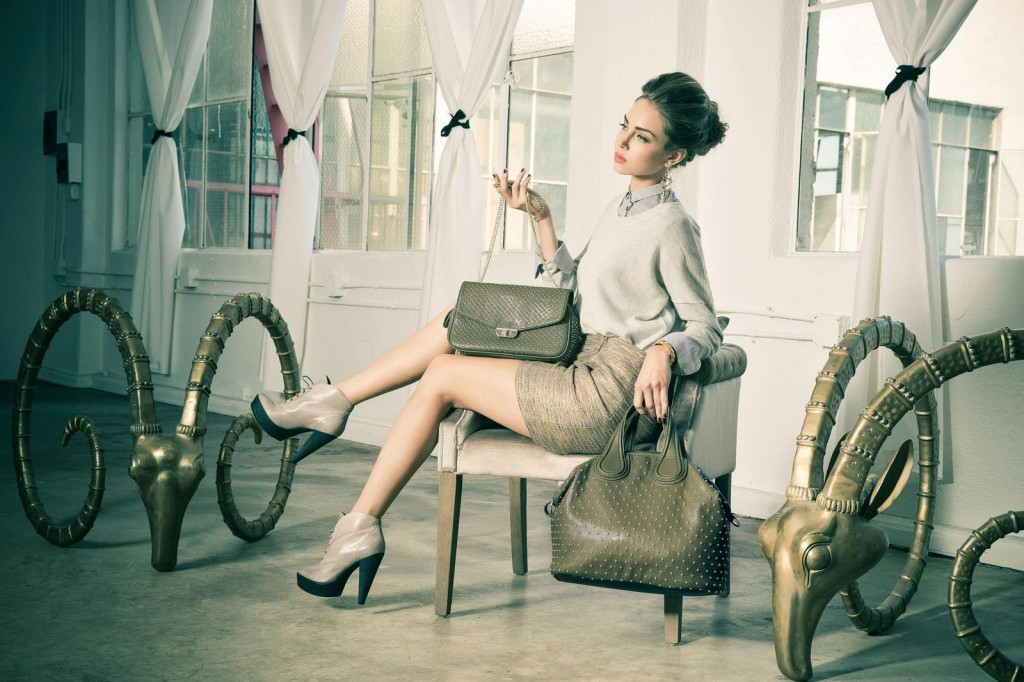 Imoshion handbag in taupe. Photo by Los Angeles Fashion Photographer James Hickey.