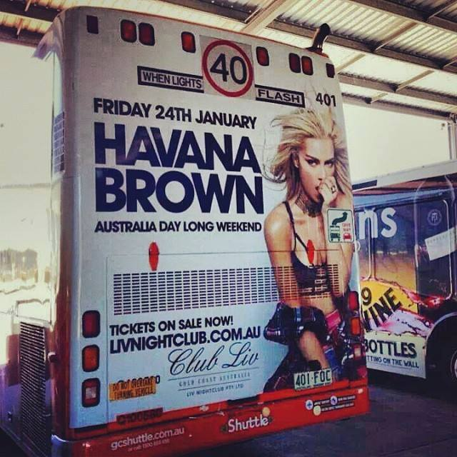 DJ Havana Brown photographer James Hickey shoot on location in Hollywood, California for her bus wrap