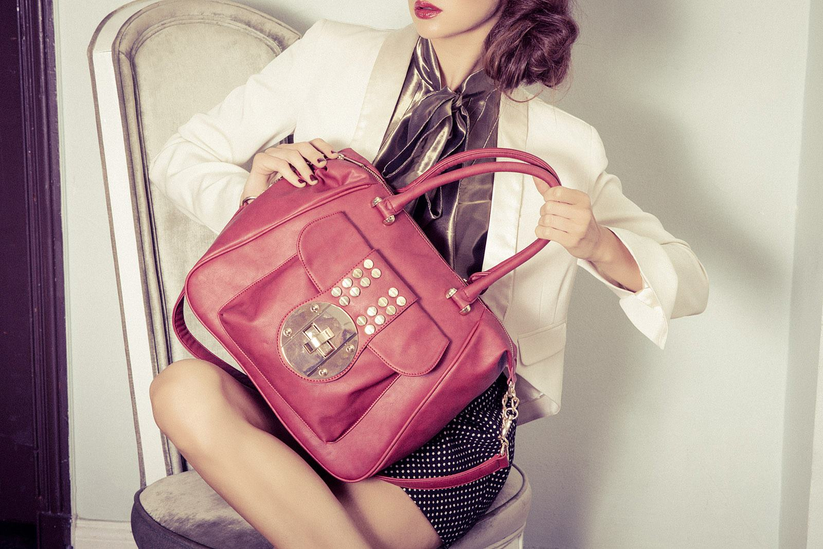Luxury vegan handbag by Imoshion. Photographed by Los Angeles Fashion Photographer James Hickey.