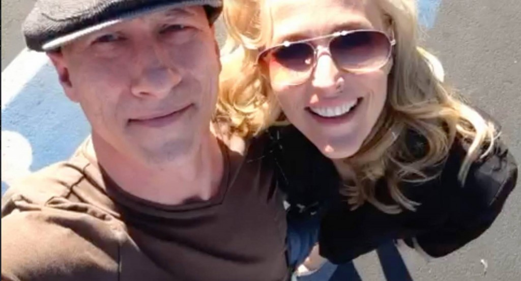 James Hickey with Gillian Anderson