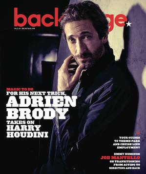 Adrian Brody Backstage Magazine cover by James Hickey.