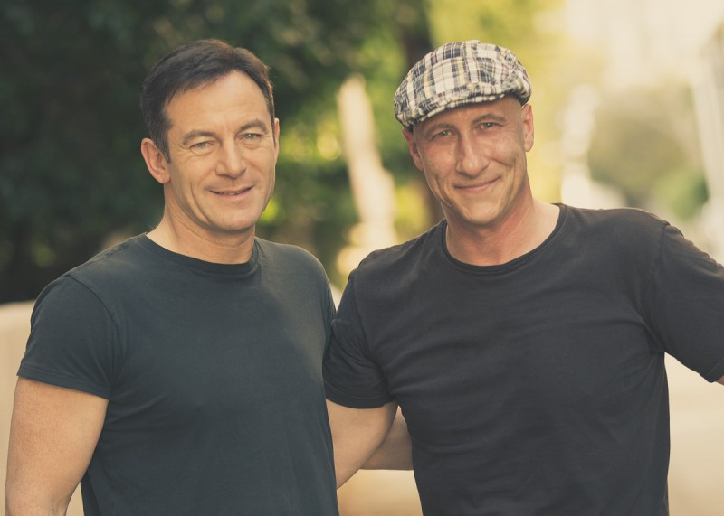 Jason Isaacs and James Hickey BTS for Backstage Magazine