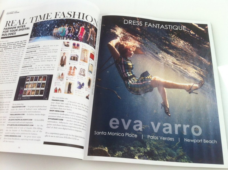 Eva Varro Print Advertisement with James Hickey