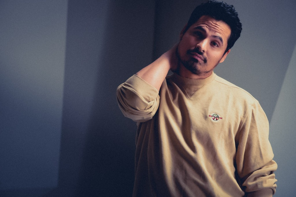 Actor Michael Pena with Photographer James Hickey