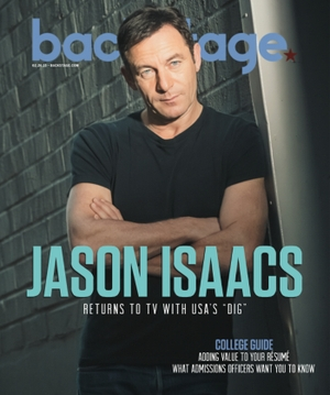 Actor Jason Isaacs Backstage Cover by Photographer James Hickey