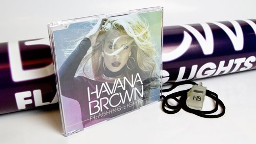 Havana Brown Flashing Lights CD Cover by Los Angeles Music Photographer James Hickey