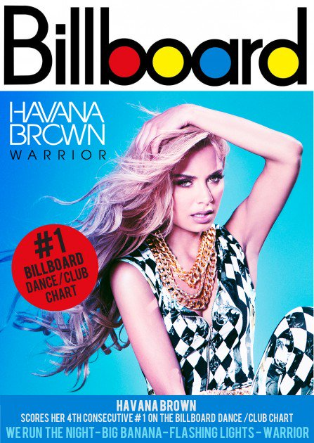 Havana Brown Warrior Billboard Photo by Los Angeles Music Photographer James Hickey