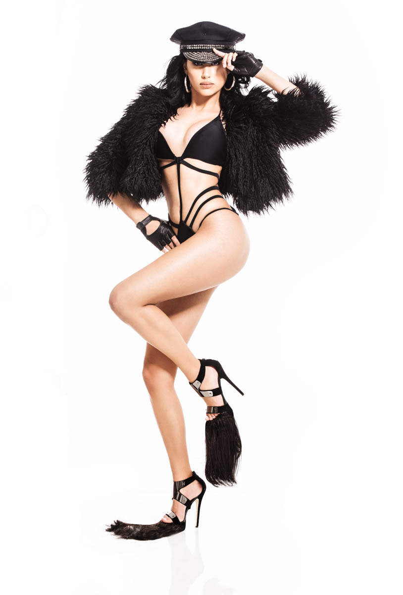 Yadea in fur by LA music photographer James Hickey