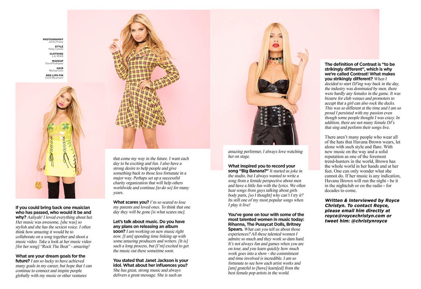 havana brown - contrast magazine 2017 - james hickey music