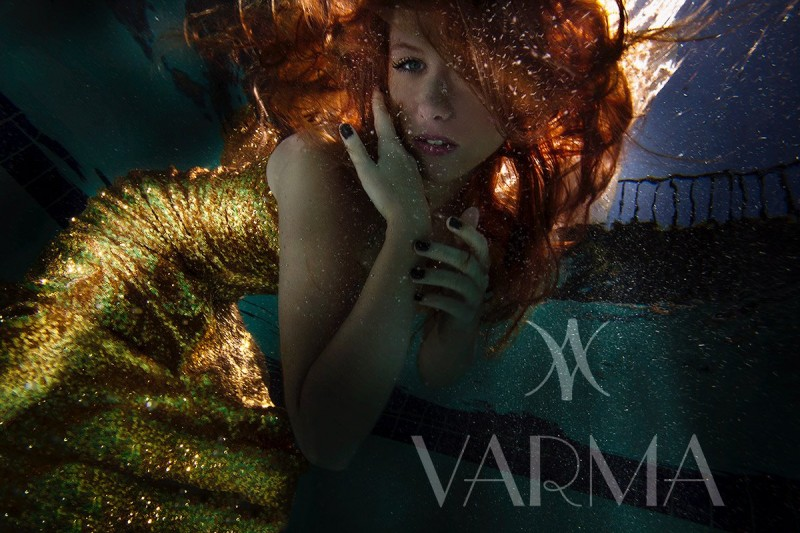 Varma underwater fashion campaign with Los Angeles Fashion Photographer James Hickey