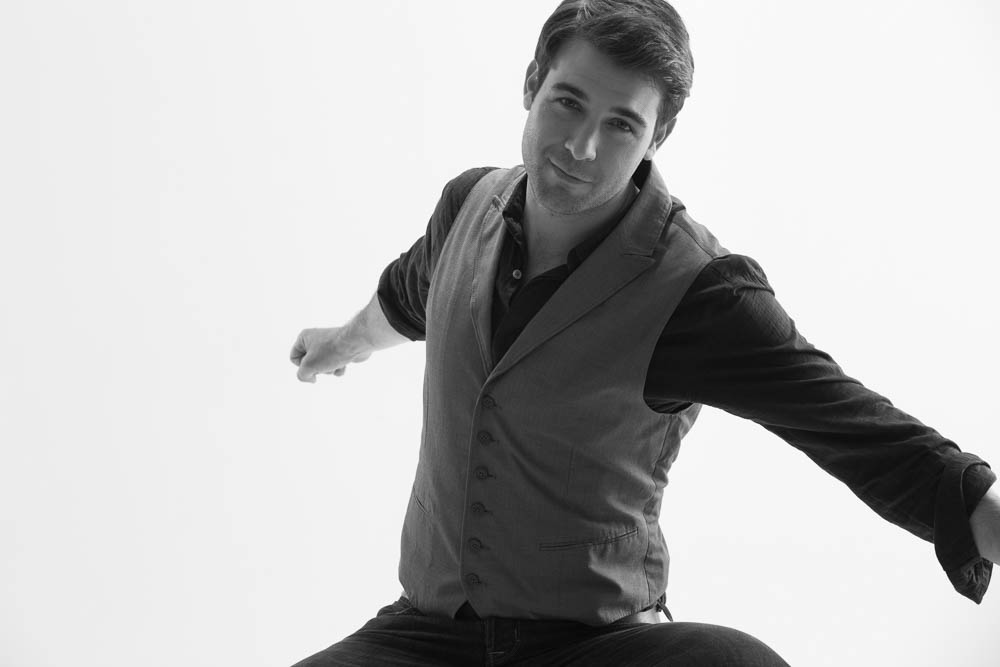 James Wolk in black and white for Backstage Magazine. Photo by James Hickey.