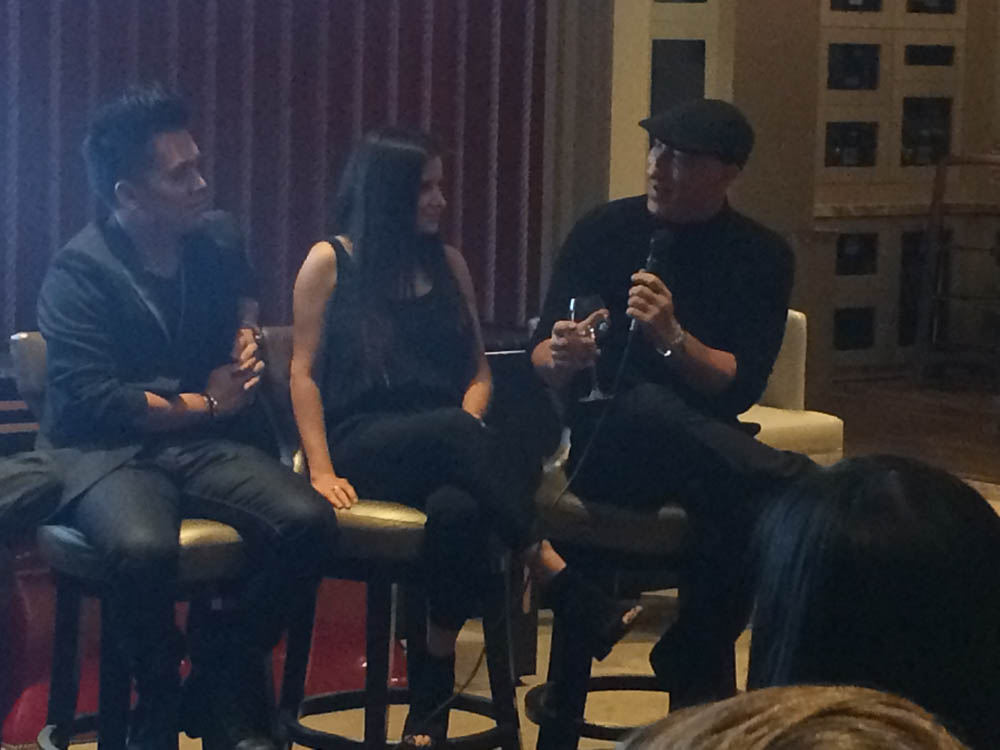 Alvin Nguyen, Ashley Gomila and James Hickey (left to right), panelists at the Adli Law Group Networking Event for LA Fashion Week 2015.