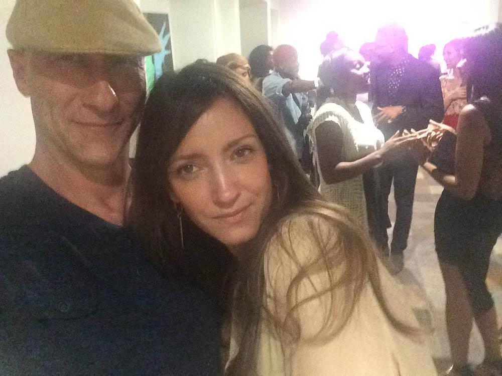 Tatiana Junqueira and James Hickey of House of Hickey at LA Fashion Week, 2015.