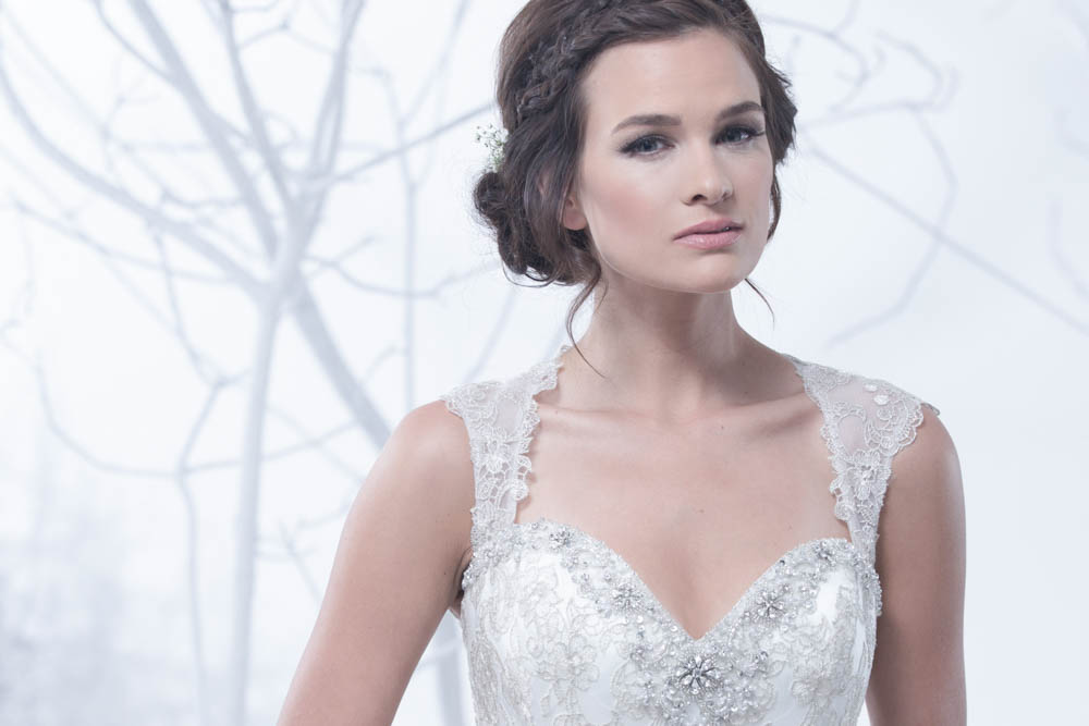 AIME Couture Brides Magazine 2015 bridal print ad - photo by James Hickey
