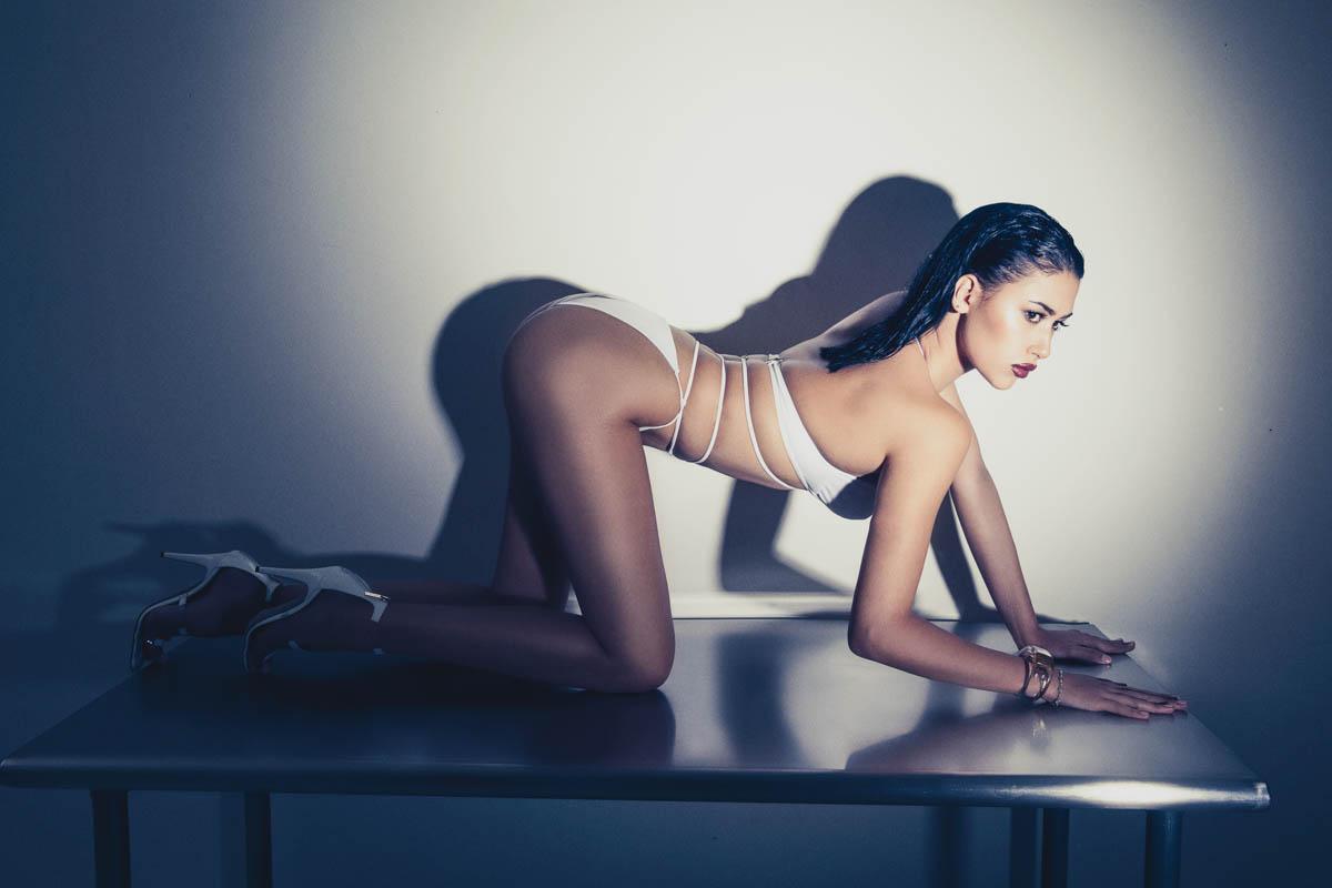 Yadea on steel table by Los Angeles music photographer James Hickey.