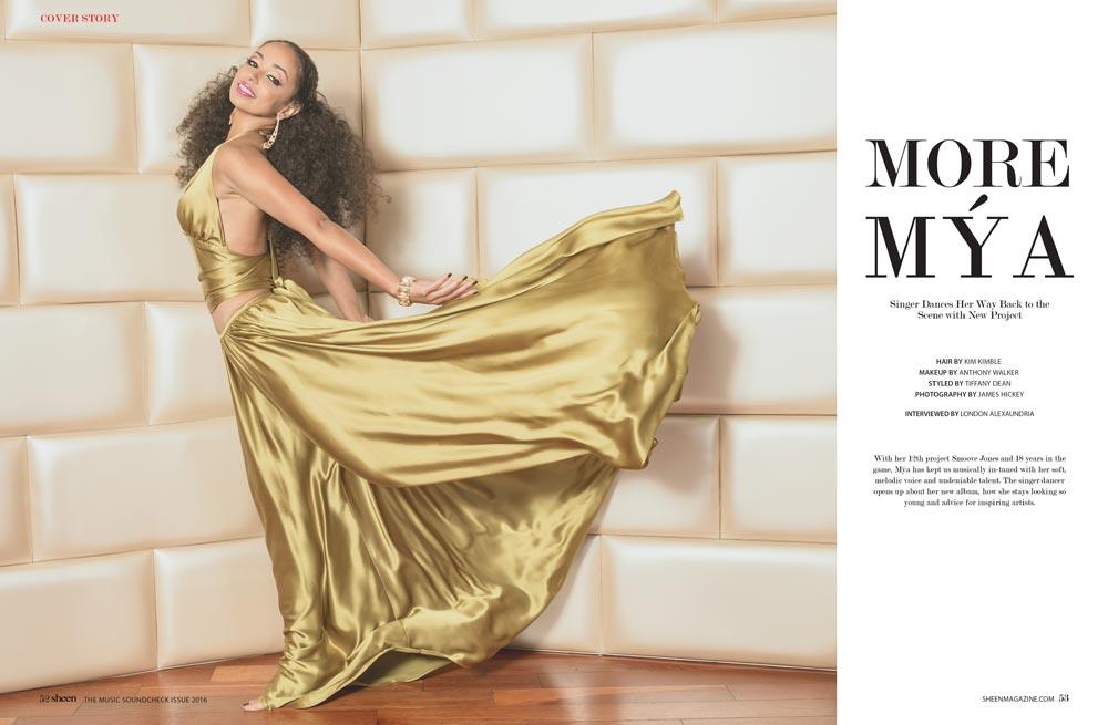 Mya for Sheen Magazine by LA Music Photographer James Hickey